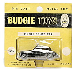 1960s Budgie No 5 Mobile Police Car Mint On Card