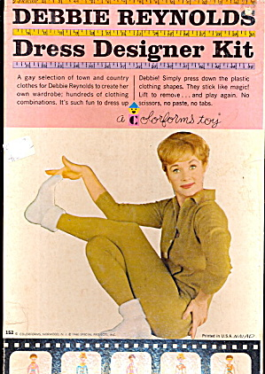 1960 Debbie Reynolds Dress Designer Colorforms