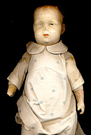 Lovely 1930s Deco Composition Baby Doll