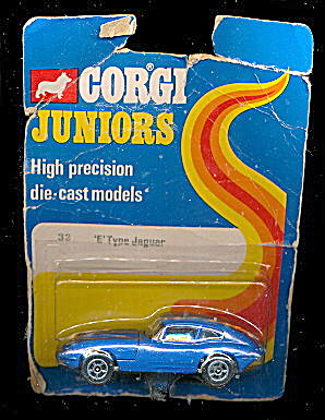 1973 Corgi Juniors #33 E Type Jaguar Moc