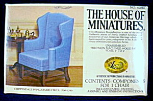 House Of Miniatures Chippendale Wing Chair