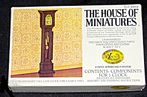 House Of Miniatures Grandfather Clock Mib