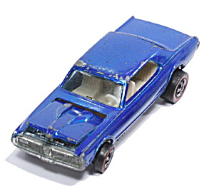1967 Hot Wheels Redline Custom Cougar Blue Spectraflame