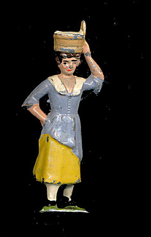 Johillco Wash Woman With Basket - 1920s Lead