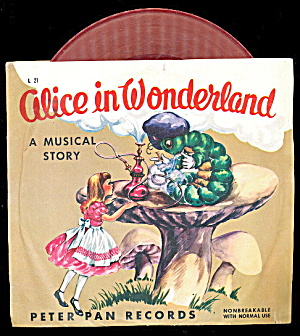 Alice In Wonderland Little Golden 1952 Record