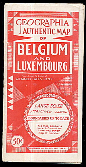 1920s Geographia Map Of Belgium & Luxembourg