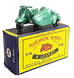 1960s Matchbox 36 Lambretta Motorcycle In Box
