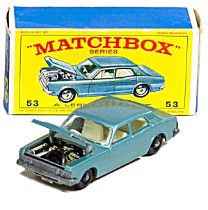 1960s Matchbox 53 Ford Zodiac Mk Iv In Box