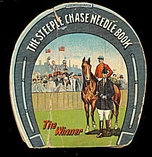 1910 Sewing 'the Steeple Chase Needle Book' W Horses