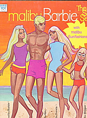 1972 The Sun Set Malibu Barbie Paper Dolls