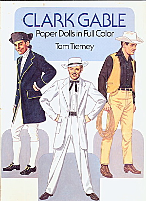 "1986 Tom Tierney ""clark Gable"" Paper Dolls"