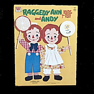 1972 Whitman Raggedy Ann & Andy Paper Dolls