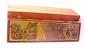 Early 1900s Wooden Germany Childrens Pencil Case