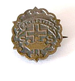Early 1900s Bronze Methodist Church Pin
