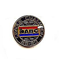 1989-1990 Abc Bowling League Champion Pin