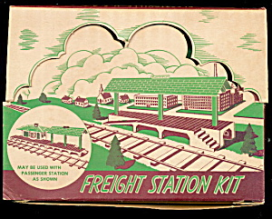 Vintage Plasticville Freight Station Kit In Orig Box