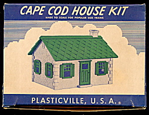 Vintage Plasticville Cape Cod Kit House In Box