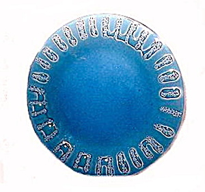 "Lovely Old Blue Onion 8"" Glass Plate"