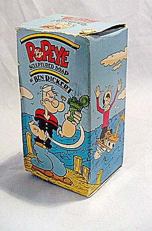 1970s Popeye Ben Rickert Figural Soap In Box