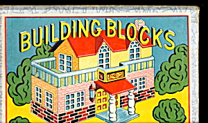 1940s House Building Blocks Wooden Blocks In Box