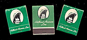 3 Vintage Holland-america Line (Cruise Ship) Matchbooks