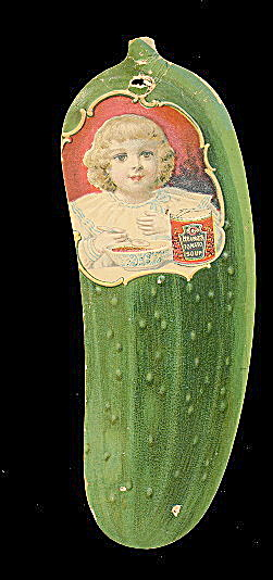 1890s Heinz Pickle Advertising Tradecard Tomato Soup