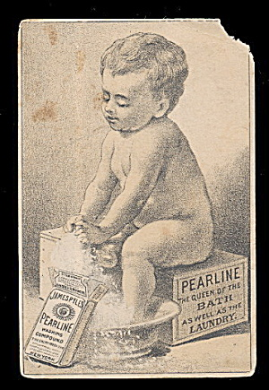1880s Pearline's Baby Victorian Trade Card