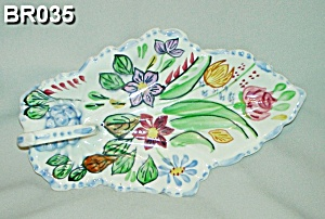 Blue Ridge Leaf Celery China Dish