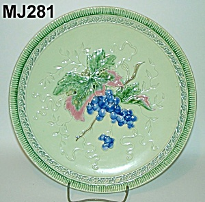 "11 3/4"" Majolica ""grapes"" Plate"