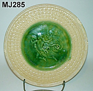 "9"" Majolica Etruscan Mythological Plate"