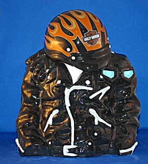 Harley Jacket & Helmet Cookie Jar