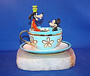 Mickey & Goofy In Tea Cup Ride By Ron Lee