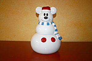 Mickey Snowman Cookie Jar