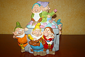 Seven Dwarfs Mine Car Cookie Jar