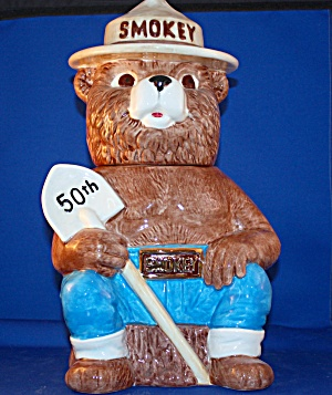 Smokey The Bear 50th Anniversary Cookie Jar
