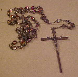 Rosary With Aurora Borealis Beads