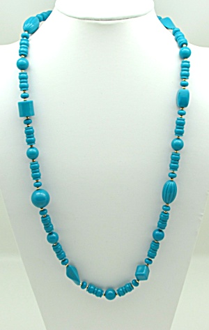 Turquoise Colored Bead Necklace