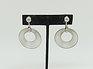 Mod Concentric Circle Earrings