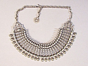 Silvertone Ethnic Necklace