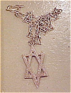 Sterling Jewish Star Necklace