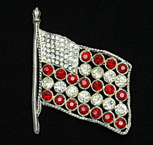 1920s Flag Brooch