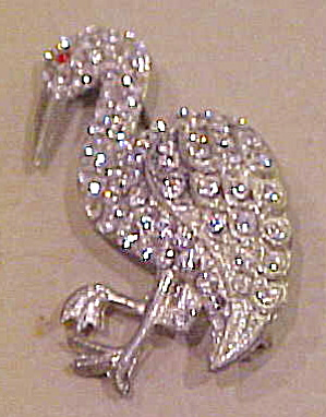 Flamingo Rhinestone Brooch