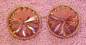 2 Goldtone Buttons With Rhinestone