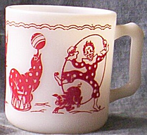 Vintage Child's Cup Circus Clown Seal Donkey