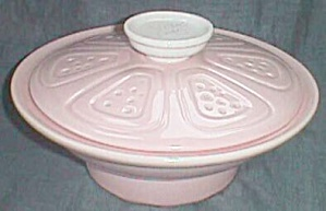 California Pottery Pink Covered Dish