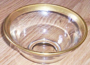Lovely Simplistic Gold Rim Mayo Bowl