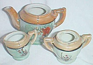 Miniature Lusterware Tea Set