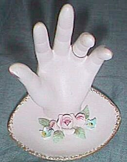 Lefton Ring Dish Hand Shaped Free Shipping