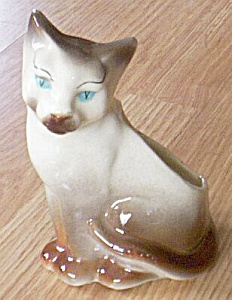 Royal Copely Siamese Cat Planter