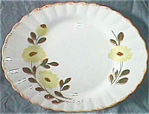 Blue Ridge Platter Colonial Shape Country Road Pattern
